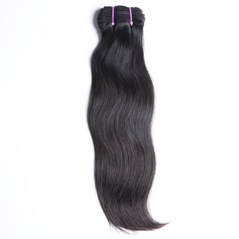 "26"" India Raw human hair weft, dark brown color"