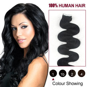 "22"" Natural Curly Indian Human Hair weave Extension Natural Colors #1B"