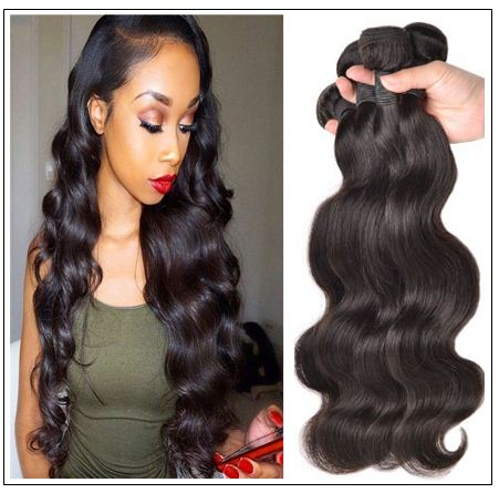 "24"" Natural Curly Indian Human Hair weave Extension Natural Colors #1B"