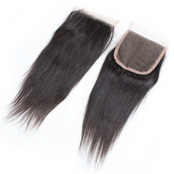 "14"" 4 x 4"" Indian Raw Human Hair Closure, straight"