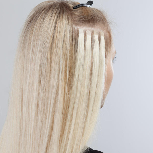 "22"" Straight India Human Hair mini Tapes in Extension blonde color"