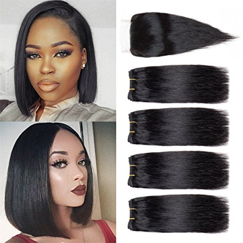 "6"" Straight Double Drawn (A++)  Vietnamese Human Hair weft color"