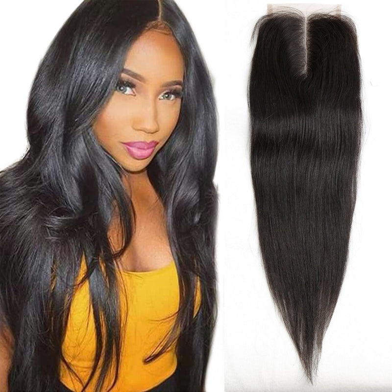 "10"" 13 x 4 Straight Brazilian Virgin Human Hair Closure"