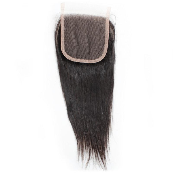 "12"" 4.5 x 5.5"" Indian Raw Human Hair Closure, straight"