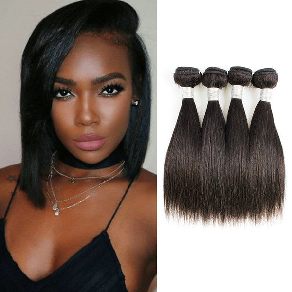 "10"" 8A Grade Straight Natural Brazilian Virgin Human Weft Hair"