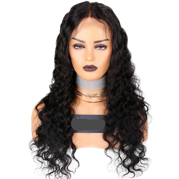 "24"" Deep wave Vietnamese Human Wigs Frontal Lace"