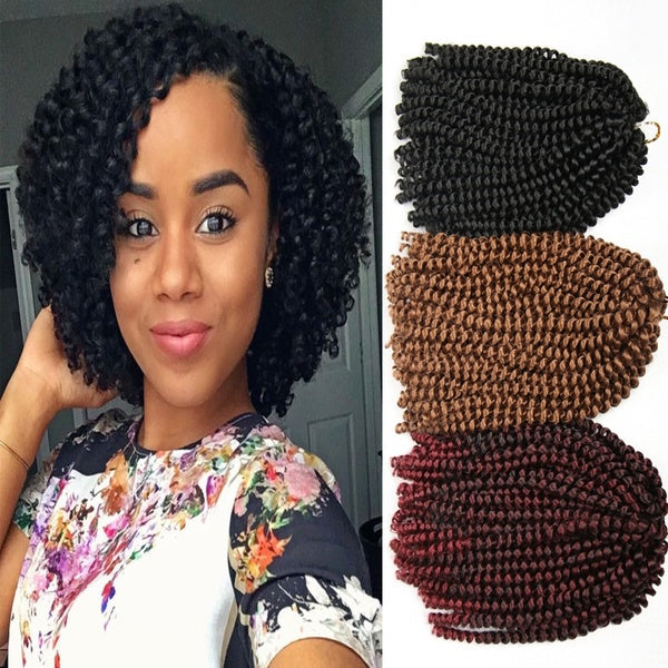 "10"" Jerry Curl Crochet Braids"