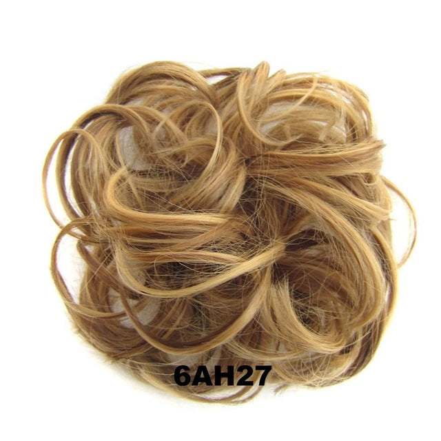 Synthetic Curly Messy hair Bun for woman ponytail hair