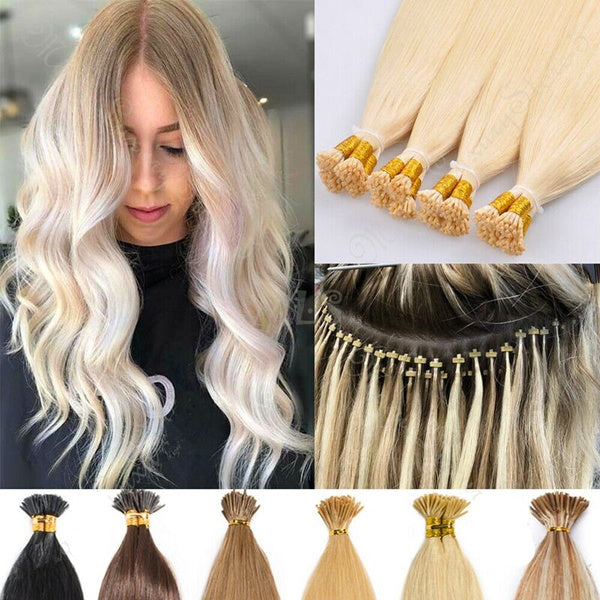 "18"" I-tip Vietnamese Hair extension blonde"