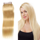 "20"" 4 x 4 Straight Vietnamese Lace Closure Blonde color"