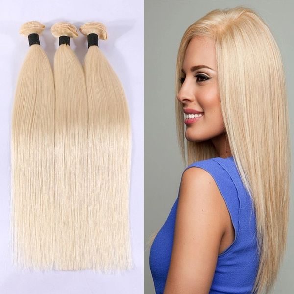 "24"" India Raw human hair weft, blonde color straight"