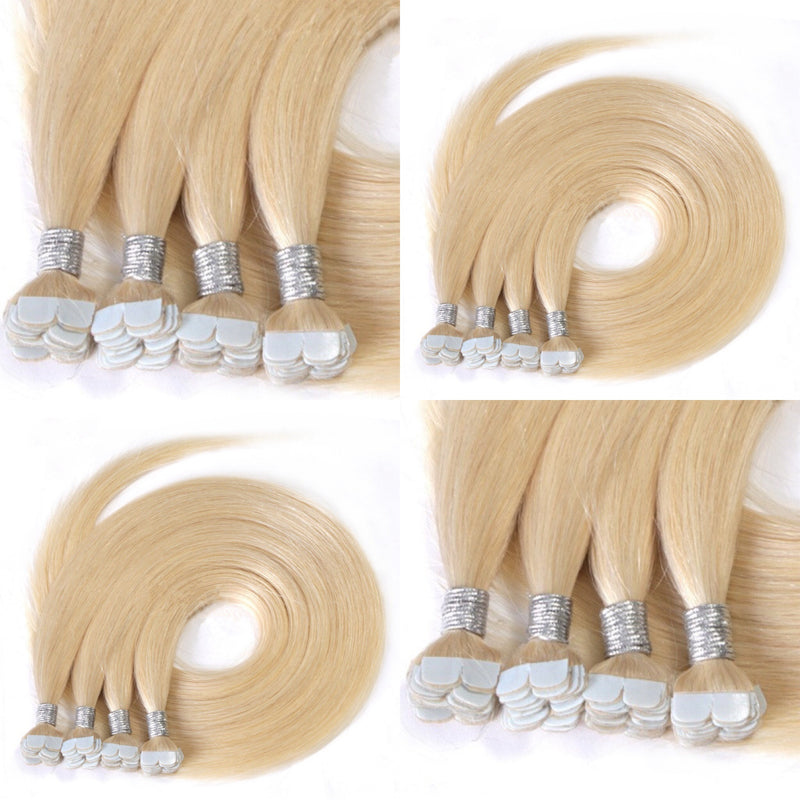 "22"" Straight India Human Hair mini Tapes in Extension  color #1,#2"