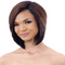 "10"" brown bob short synthetic wigs for women with lace front closure"