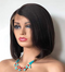 "14"" short straight natural black synthetic wigs with lace front closure"