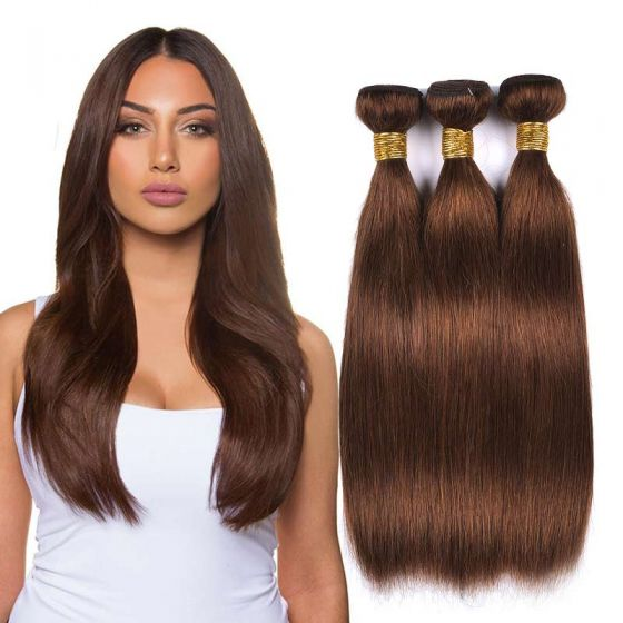 "20"" India Raw human hair weft straight"