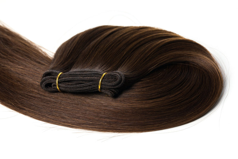 "24"" Straight Double Drawn (A++) Russian Human Hair Weft Extension"
