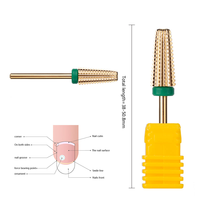 5 in 1 cross cut nail electric file bits carbide nail drill bit