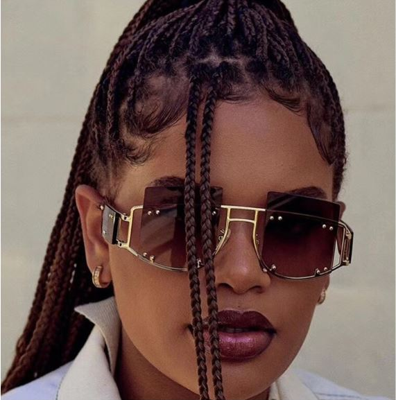 Hot Trendy Oversized Rihanna diva Sunglasses Men Female Unique Eyewear UV400