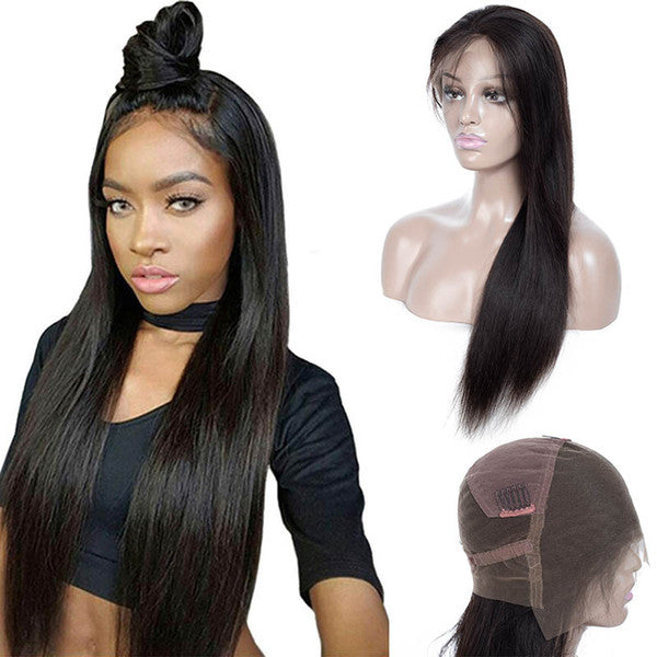 "20"" India Raw human hair full lace wigs"
