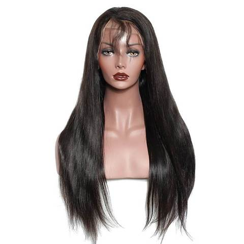 "24"" 13x 6 Vietnamese human hair frontal lace wigs"