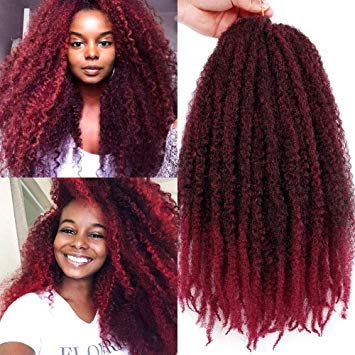"18"" Afro Twist Marley Braid - Curly Twist (Ombre Color)"