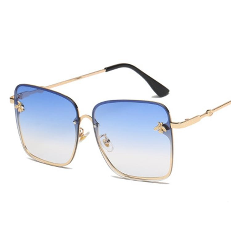 Fashion Square sunglasses with bees design