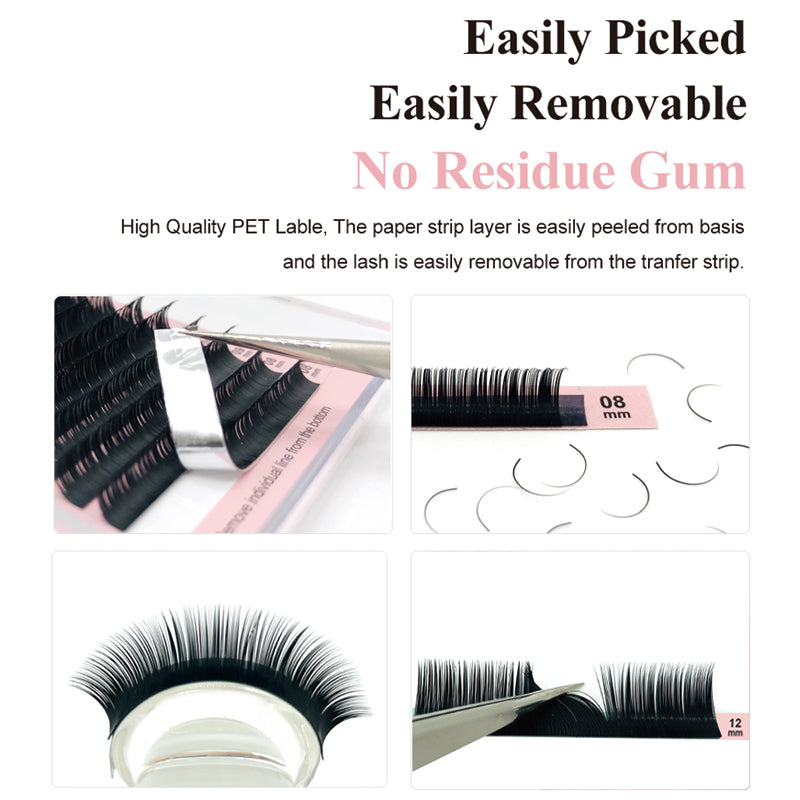 Natuhana Premuim Ellipse Lashes with different thickness (D curl)