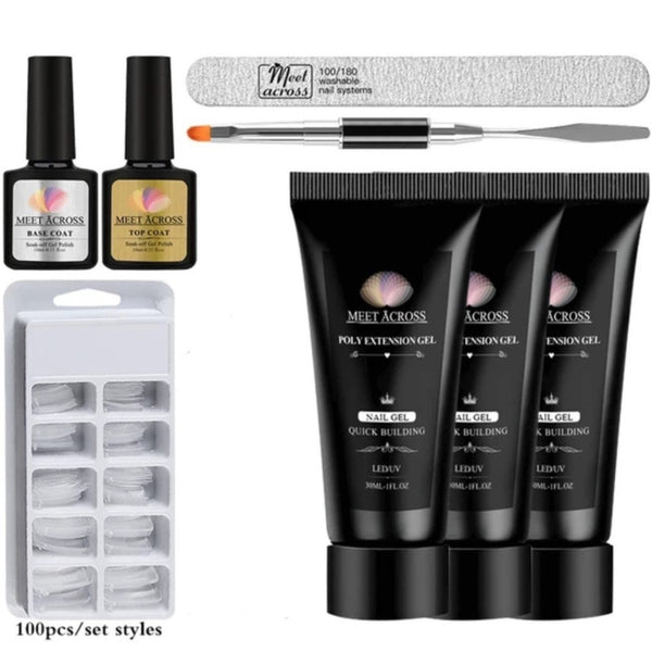 Poly Gel Kit for Quick Nail Extension Starter Kit