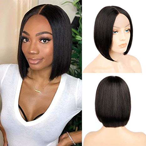 "8"" India Raw human hair weft, straight"