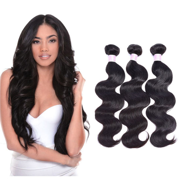 "18"" Body Wave  Indian Human Hair_Single Drawn"