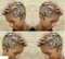 "8"" fashion short pixie synthetic wigs"