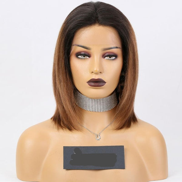 "16"" two tone Vietnamese Human Wigs Frontal Lace"
