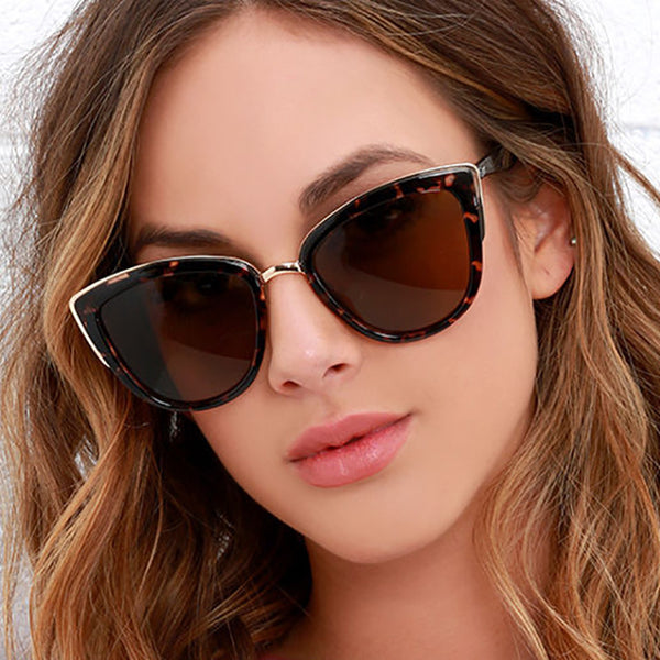 Sexy Ladies Metal Cat Eye Sunglasses