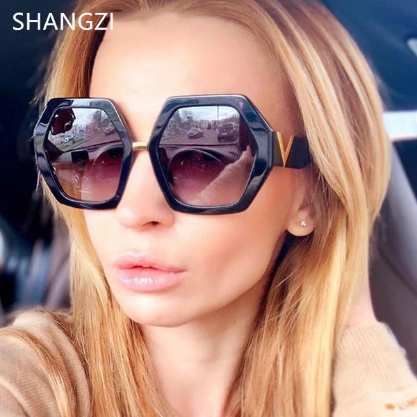 Fashionable Metal V Shades Sunglasses