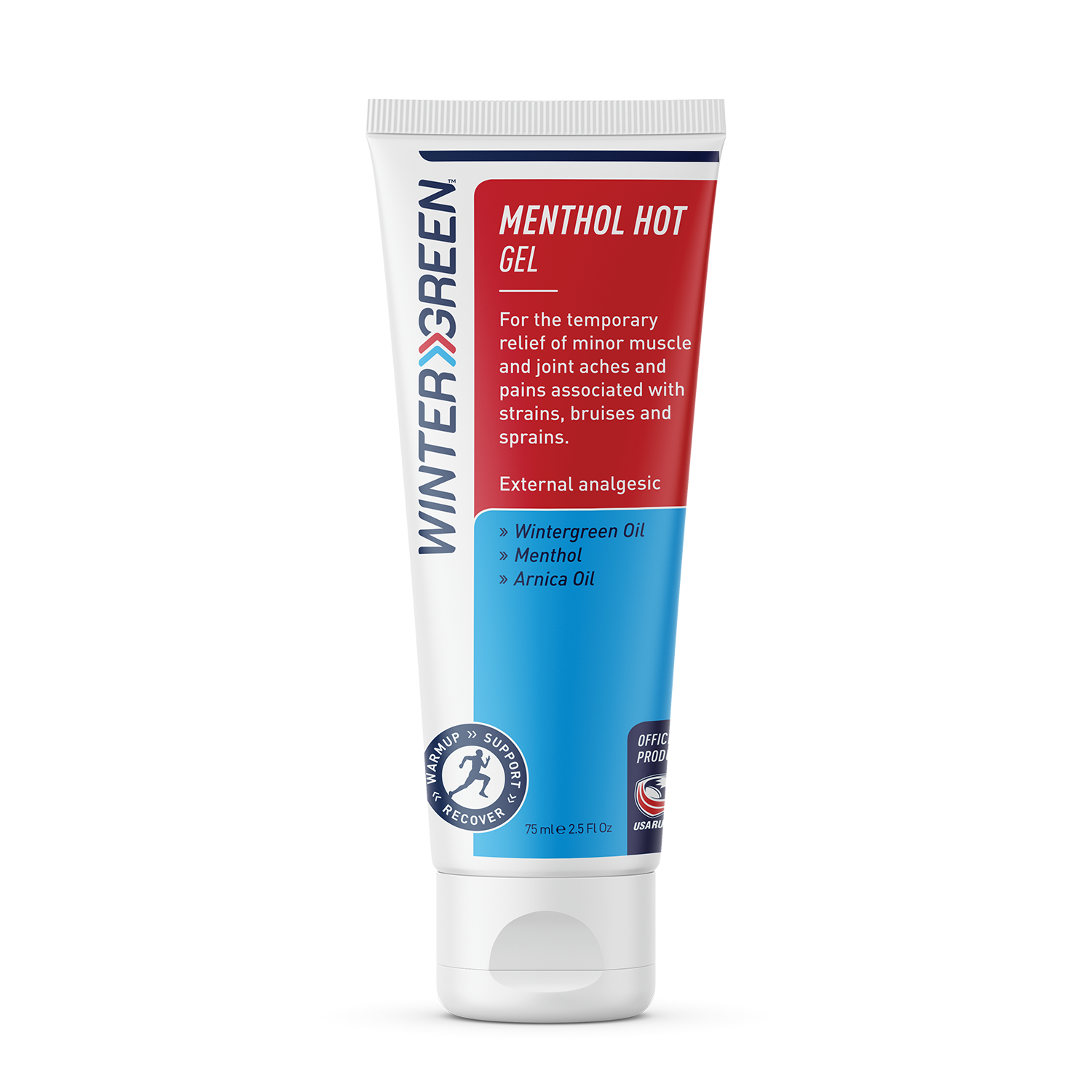Wintergreen Menthol Hot Gel tube