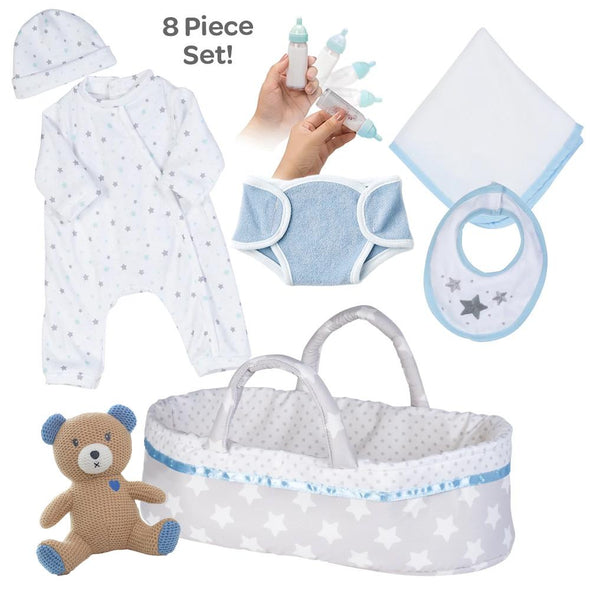[It's a Boy!] Adoption Reborn Baby Essentials-8pcs Gift Set