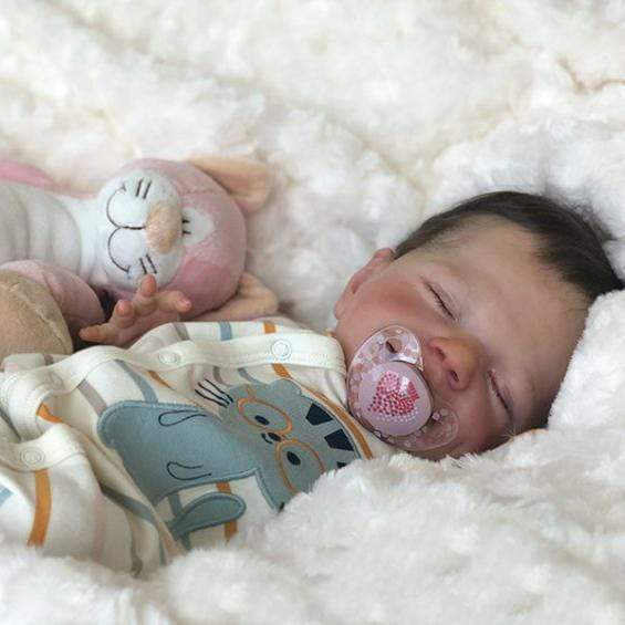 reborndollsshop 22'' Cloth Body Reborn Dolls 22'' Keira Reborn Baby Doll-Sleeping With Sweet Dreams That Look Real