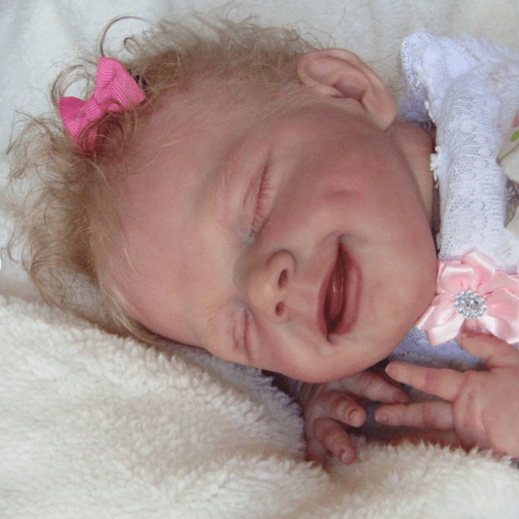 reborndollsshop 22'' Cloth Body Reborn Dolls 22'' Little Alison Reborn Baby Doll