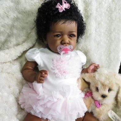 reborndollsshop 22'' Cloth Body Reborn Dolls 22'' Lovely Mariam Reborn Baby Doll Girl - Realistic Toys Gift Lover
