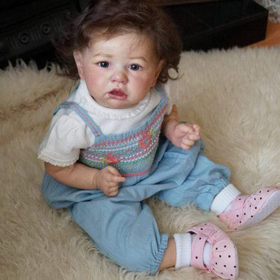reborndollsshop 22'' Cloth Body Reborn Dolls 22'' Pink Virginia Reborn Baby Doll Girl by Rebirthdoll? Exclusive