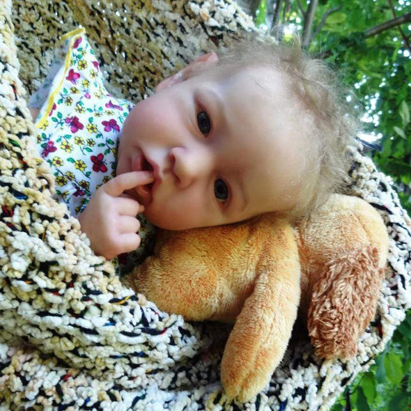 reborndollsshop 22'' Cloth Body Reborn Dolls Realistic 22'' Lailah Reborn Baby Doll Girl by Rebirthdoll? Exclusive