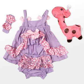reborndollsshop baby clothing Reborn Dolls Baby Clothes Purple Outfits for 20''- 22'' Reborn Doll Girl Baby Clothing sets