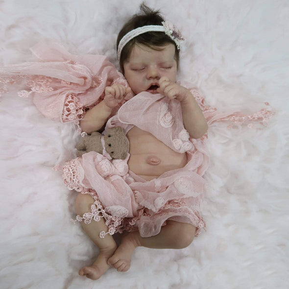 reborndollsshop new arrival2 17'' Lifelike Cute Pearl Reborn Baby Dolls-Great For Christmas Gift
