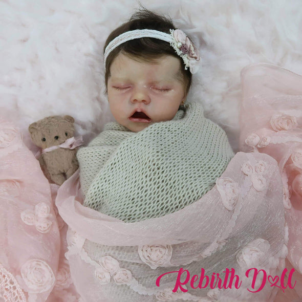 reborndollsshop TWIN A Copy of 17'' Lifelike Cute Pearl Reborn Baby Dolls-Great For Christmas Gift