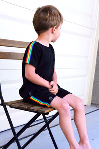 Retro Rainbow Stripe T-Shirt