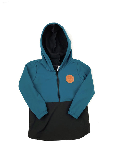 Everglade Blue & Black Half Zip Softshell Jacket