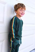 Load image into Gallery viewer, Retro Rainbow Stripe Sweatshirt