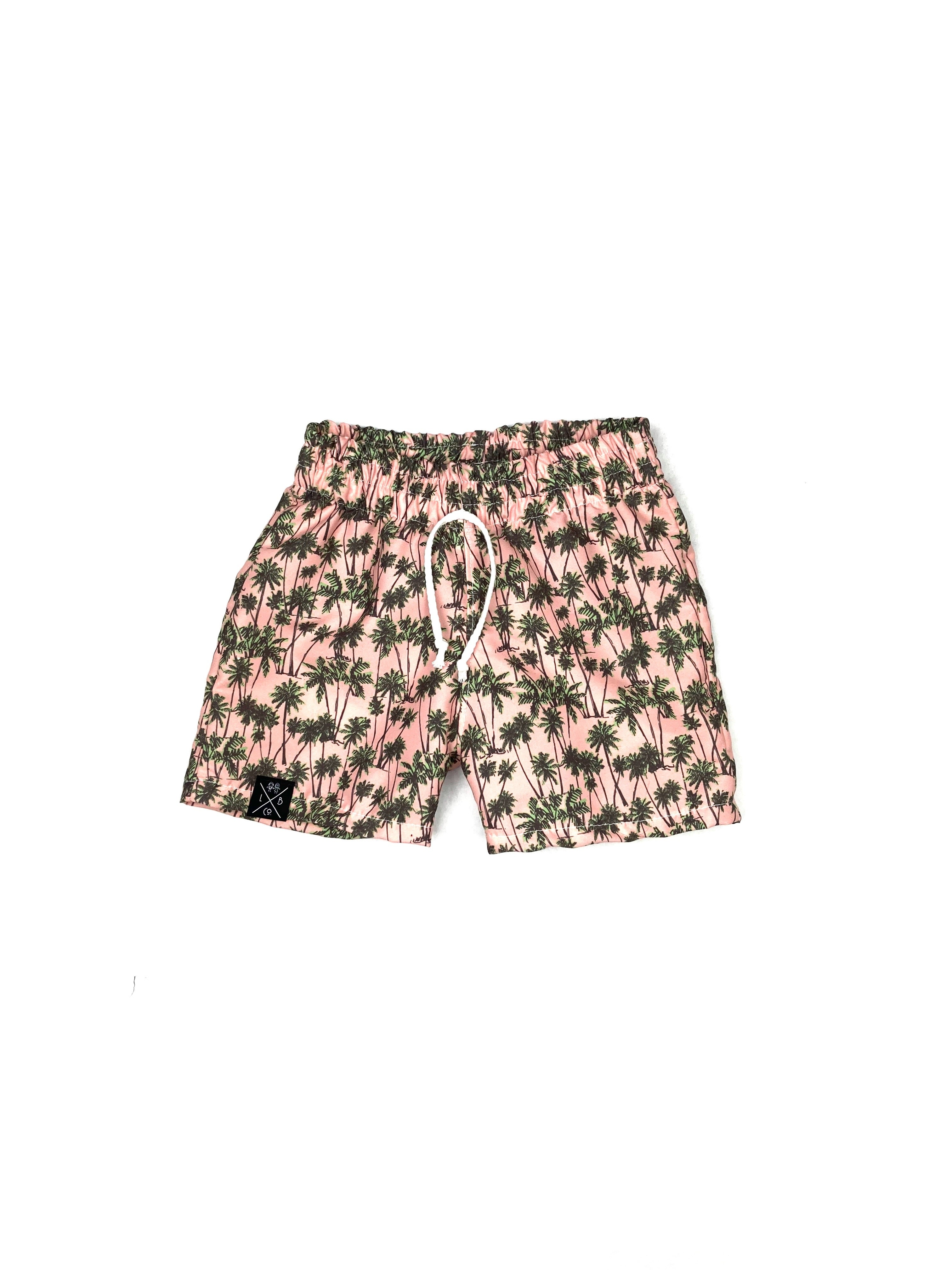 Palm Trees on Pink Board Shorts