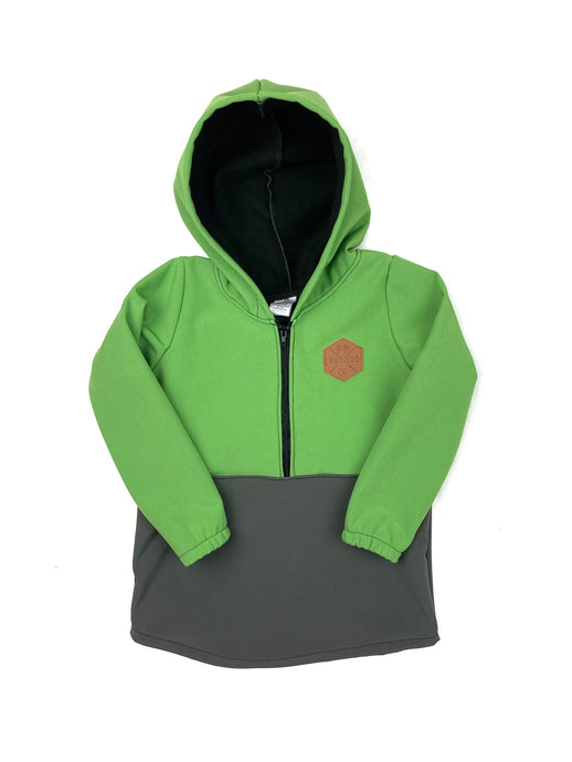 Apple Green & Charcoal Half Zip Softshell Jacket