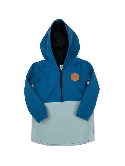 Port Royal Blue & Citadel Blue Half Zip Softshell Jacket